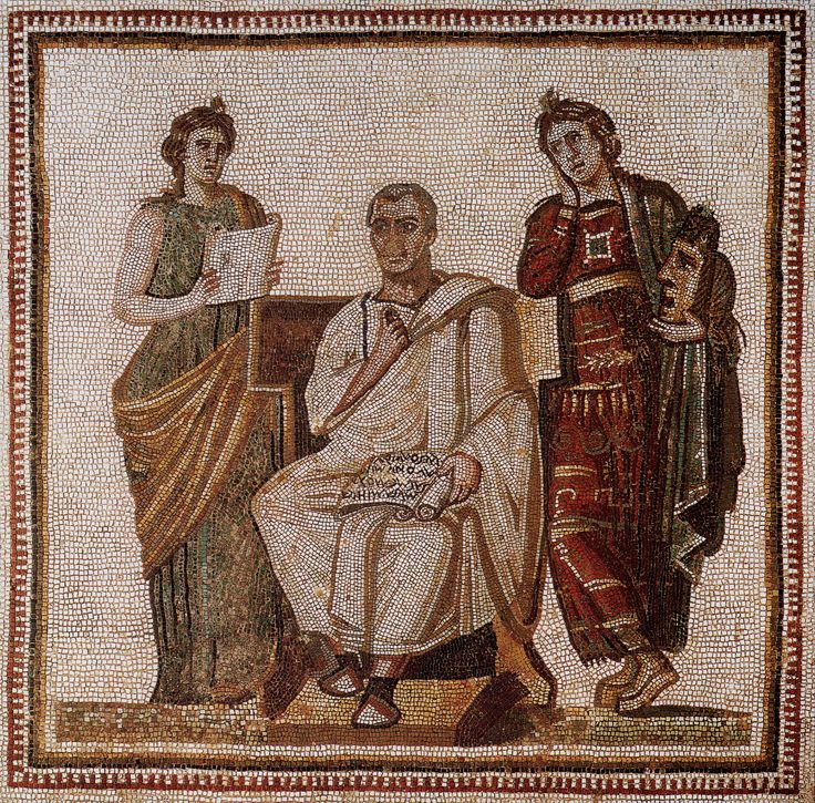 Vergil and Muses Mosaic